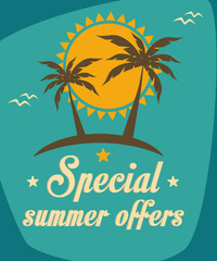 offers and travel summer poster