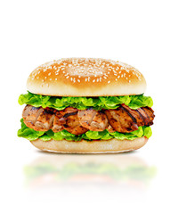 Delicious chicken burger