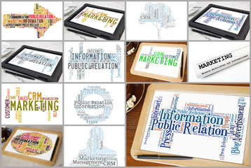 Variation of marketing word clouds