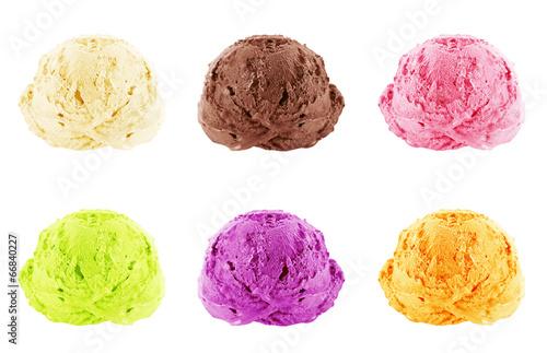 Papiers peints Dessert Ice Cream scoops