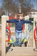 Young boy in the playground