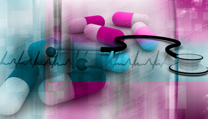Digital illustration of Medical abstract background