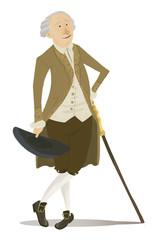 aristócrata con bastón