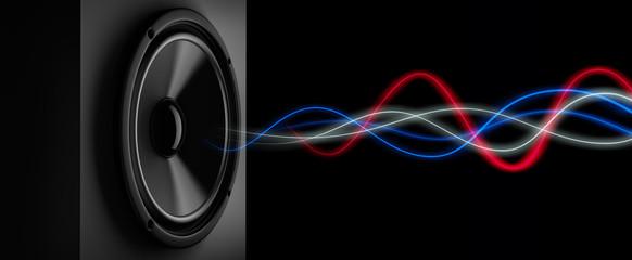 Lautsprecher mit Schallwellen
