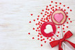 red heart lollipops