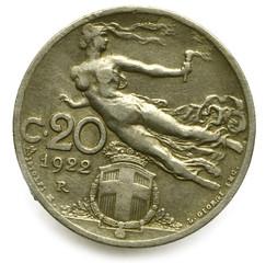 20 centesimi 1922 Lira Regno Italia