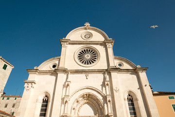 Famous cathedral of St  James in Shibenik, Croatia