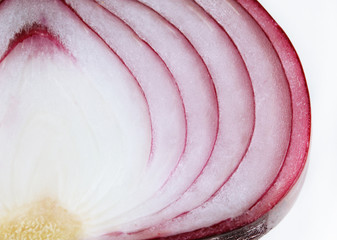 Fresh red onions close up
