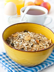 Breakfast with muesli