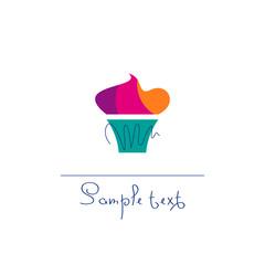 Cupcake. Vector illustration.