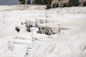 Pamukalle Turkey, frozen waterfalls