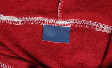 Red Sweatshirt Label