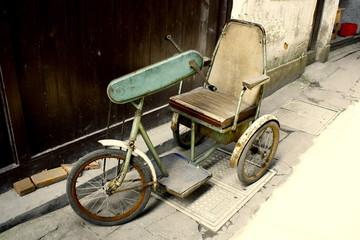 中国の昔の自転車