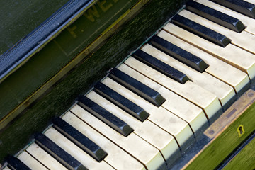 Keys old piano