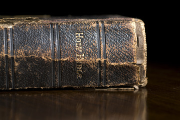 Antique Holy Bible Spine