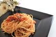 Italian food, meat sauce spaghetti