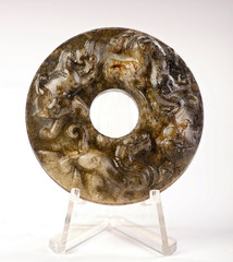 Chinese Jade Bi.made in the early 19th century.