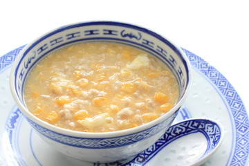 Chinese corn and mince chicken soup