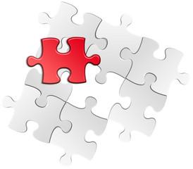 puzzle pièce manquante rouge