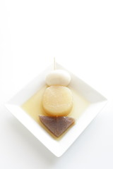 Japanese food, Oden Radish and Konjac