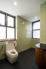 Elegant restroom in a modern house