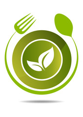 natural restaurant vegetable food logo