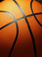 The basketball closeup