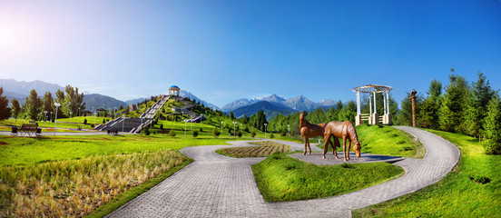Pano of Almaty park