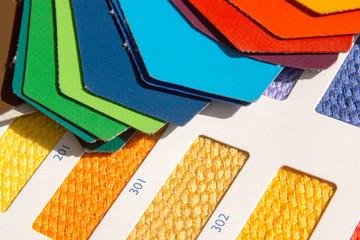 Stoffmuster - Farbkarte