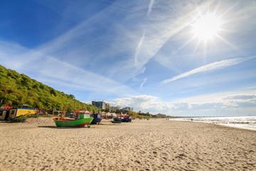 Beach and sun in Miedzyzdroje