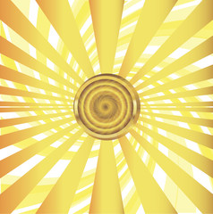 Sun with sunrays vector illustration