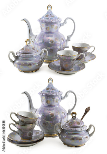 Set of old porcelain dishes - 66850888