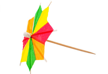 cocktail umbrella isolated