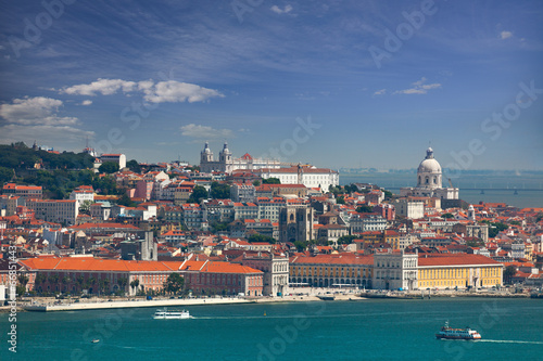 View of Alfama and Graca, cityscape of Lisbon, Portugal, Europe