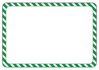 Schild Streifen grüm-weiß
