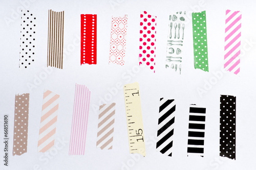 Washi tape, masking tape pieces isolated. - 66851690