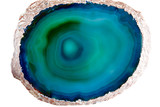 Green and blue agate