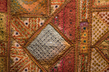 Indian patchwork carpet