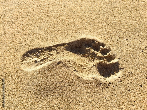 canvas print picture Footprint in sand