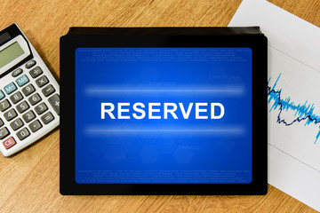 reserved word on digital tablet