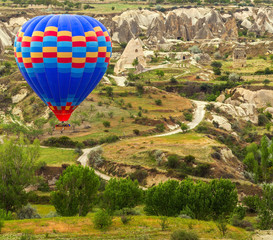 air balloon in mountain