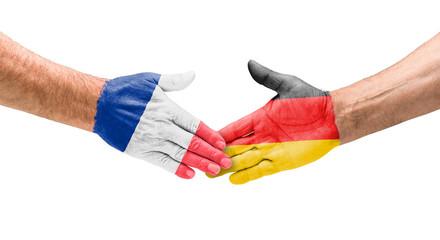 Handshake Frankreich und Deutschland
