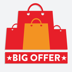 Big Offer Shopping Bags Label