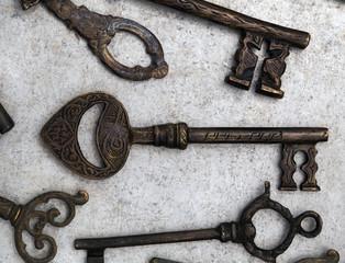 Old bronze key
