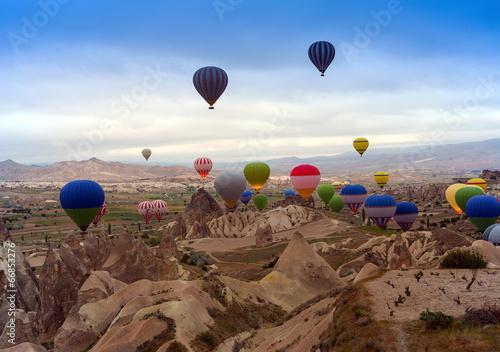 Aluminium Turkey air balloon in mountain
