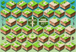Isometric Roads on Green City Park - 66853609