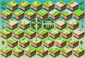 Isometric Roads on Green City Park