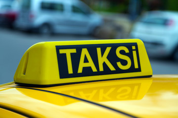 taxi istanbul yellow sign