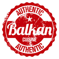 authentic balkan cuisine stamp