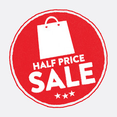 Half Price Sale Stamp